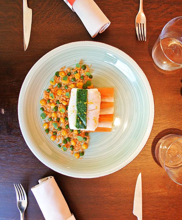 Assiette du Restaurant Léonie à Biarritz