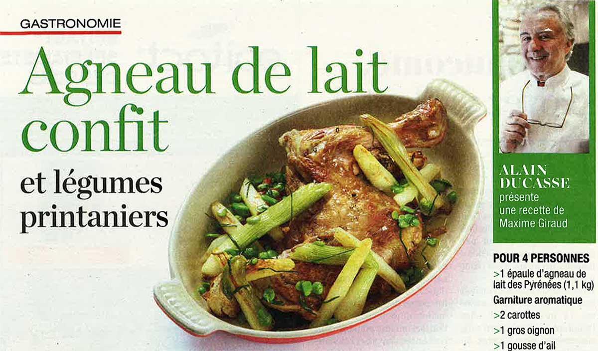 Alain Ducasse présente une recette de notre Chef Maxime Giraud - Léonie